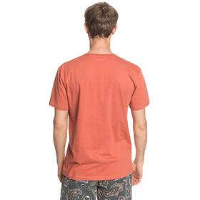 Quiksilver Comp Logo SS Tee Men redwood
